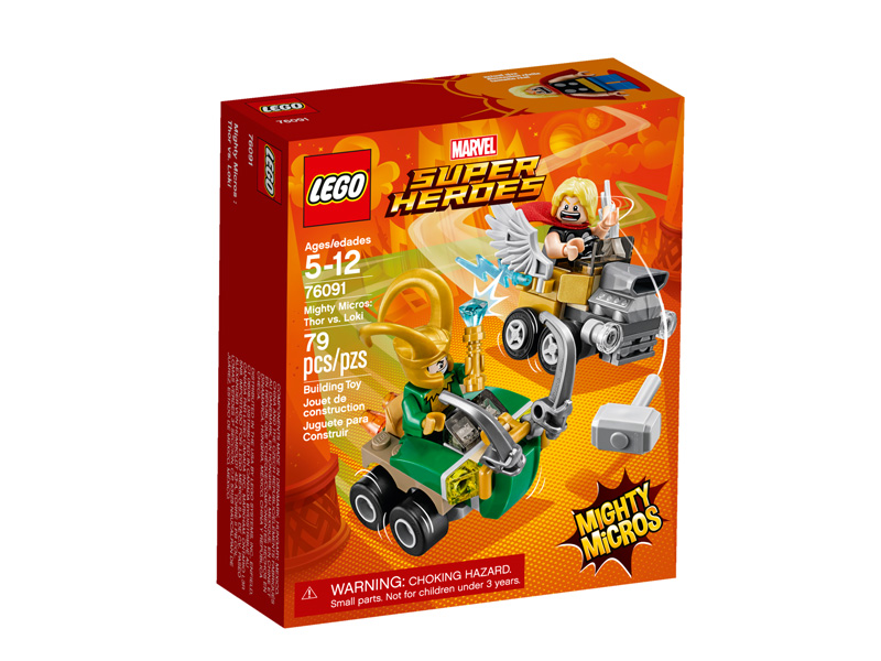 Super Heroes 76091 Mighty Micros Thor vs Loki