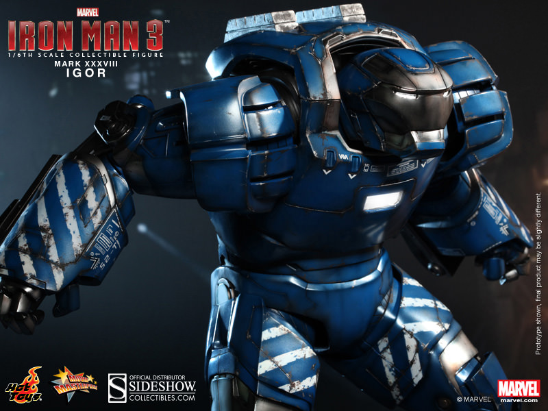 Iron Man 3 IGOR Mark 38 XXXVIII Collectible Figure by Hot Toys