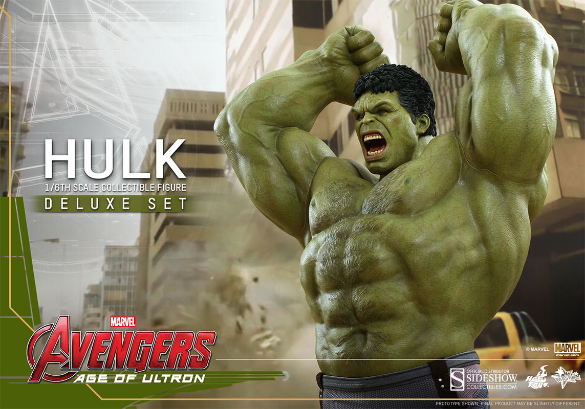 Hulk Deluxe Hulk Sixth Scale Figure Set by Hot Toys