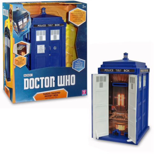 Dr Who Tardis Talking Money Bank Box with Voice Light and Sound