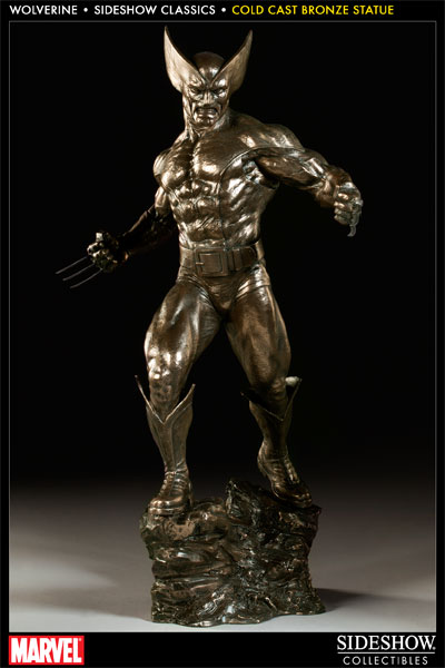 Wolverine Sideshow Classic Statue Cold Cast
