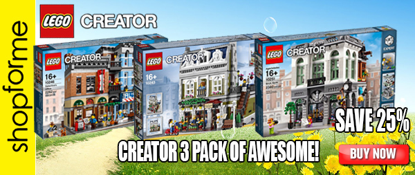 CREATOR 3 Pack 10251 Brick Bank 10243 Parisian 10246 Detectives