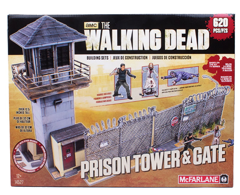 The Walking Dead Prison Tower and Gate