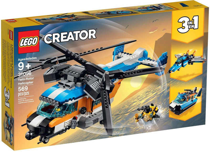 LEGO® CREATOR 31096 Twin Rotor Helicopter