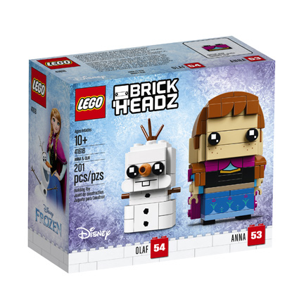 BrickHeadz 41618 Anna and Olaf