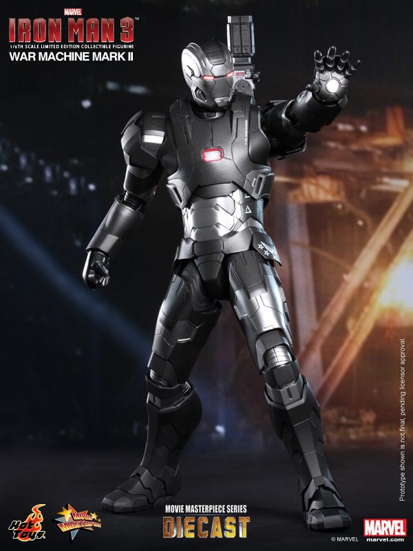 Iron Man 3 War Machine - Mark II by Hot Toys MMS198