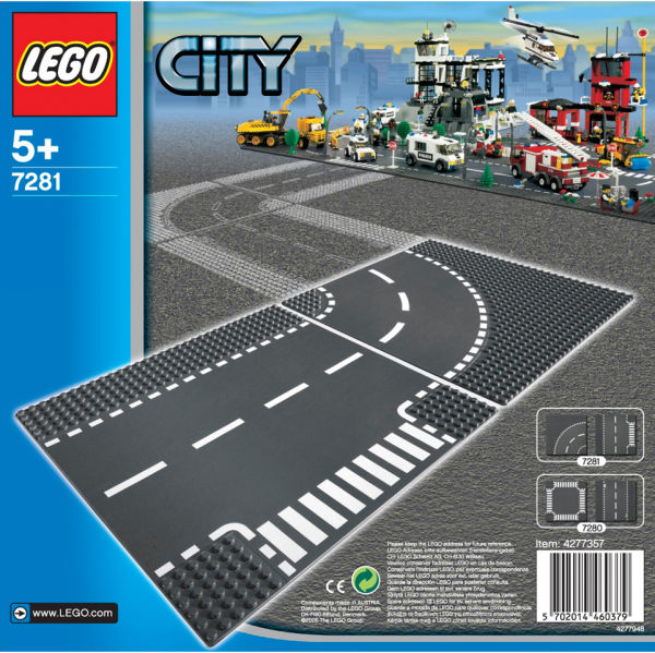 LEGO® T-Junction and Curve 7281