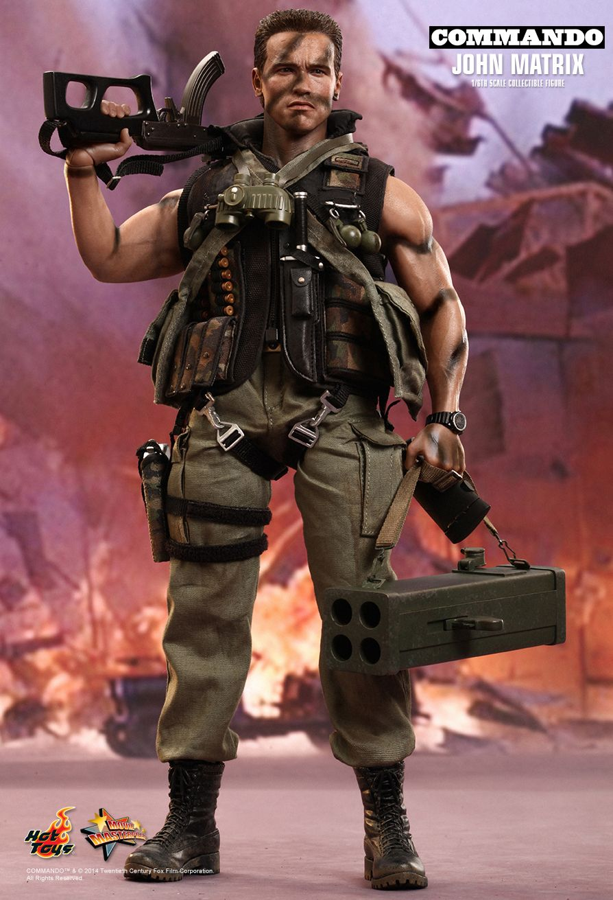Commando John Matrix Hot Toys Action Figure MMS276