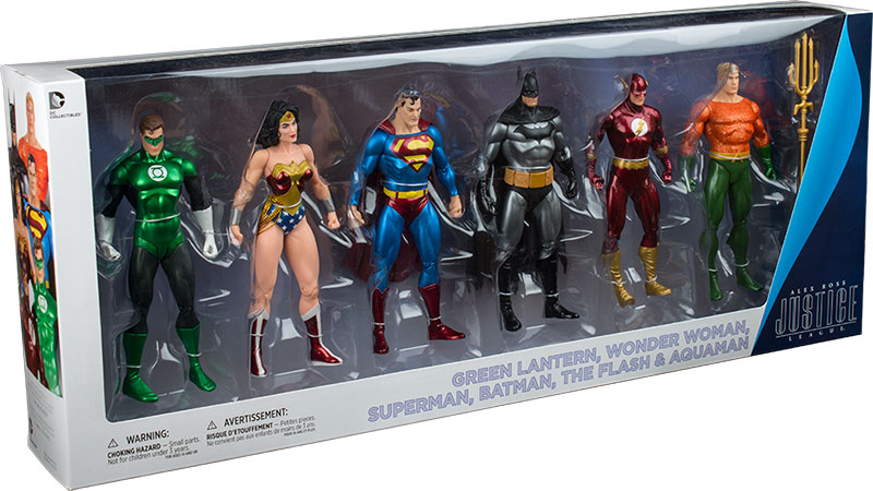 DC Collectibles Alex Ross Justice League Action Figure 6 Pack